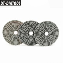 DT-DIATOOL 100mm/4 3 Steps Wet or Dry Premium High Quality Diamond Polishing Pads Resin Bond Sanding Discs For Marble concrete dt diatool 100mm 4 3 steps wet or dry premium high quality diamond polishing pads resin bond sanding discs for marble concrete