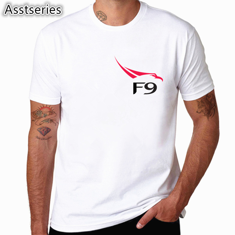 SpaceX T shirts Men Space X Logo Men's T-shirt Popular Custom Short Sleeve Occupy Mars Tshirt HCP4538 2