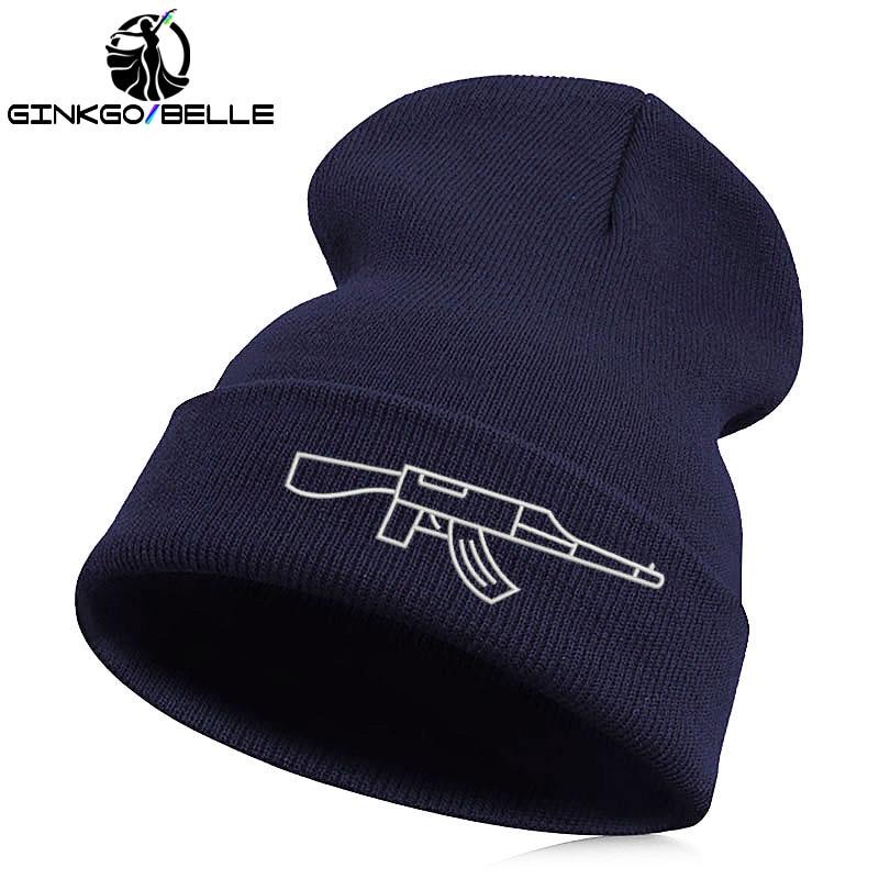 Beanie   Hat   Skullie   Cap Slouchy Winter Embroidery Cool Punk Men Women Teen Street Dance Funny Hip-hop Personalized - gun AK