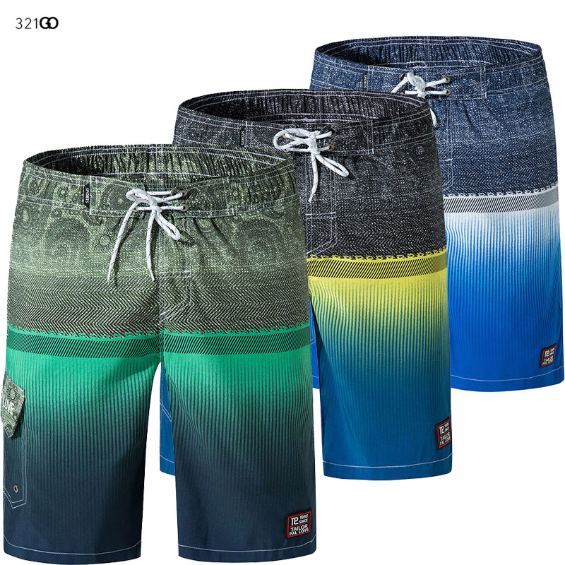 Men's   Board     Shorts   Swimsuit 2019 New Print   Shorts   For Men Summer Breathable Elastic Waist Surf Man   Shorts   Running Pants 3XL
