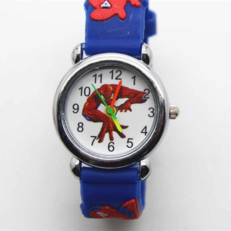 סיליקון ילד שעון 3D ספיידרמן קריקטורה שעונים לילדים בני בנות ילד מזדמן שעון חג המולד גיבור מתנת שעון relogio