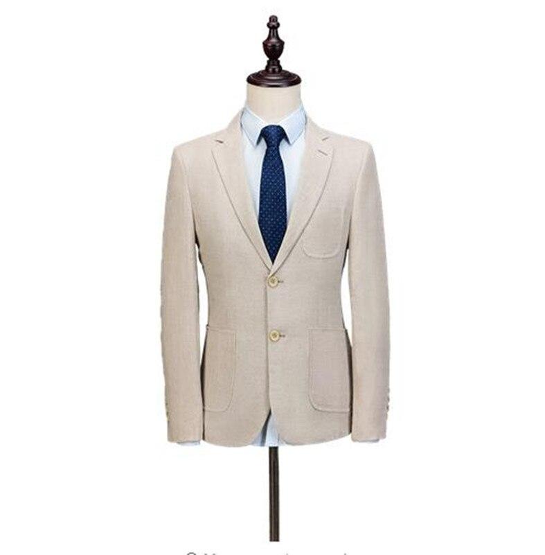 Homme Hommes Slim Made Smoking Mariage Picture As Pantalon veste Smokings De Nouveau Partie Beige Fit Bal Same Pour Costume Custom Le Meilleur AR7aq51