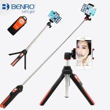3 en 1 Autorretrato Monopod de Mano y mini Trípode BENRO teléfono selfie stick w bluetooth disparador remoto para iphone sumsang Gopro