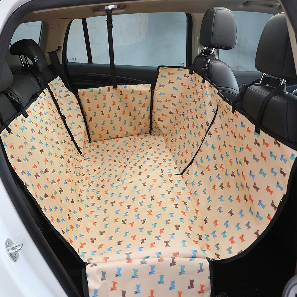 Waterproof Pet Dog Car Seat Cover Oxford Dog Carrier Print Car Rear Back Seat Mat Cushion Protector Hammock with Zipper-in Dog Carriers from Home & Garden on AliExpress - 11.11_Double 11_Singles' Day 1