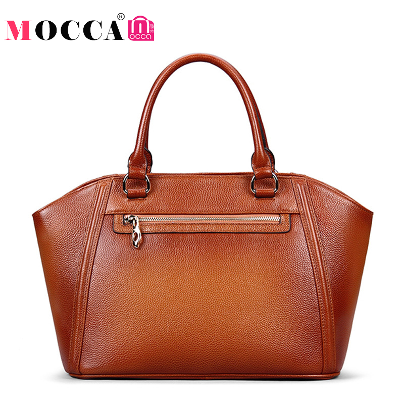 Luxury Famous Designer Brand 100% Real Genuine Leather Bags Women Handbag High Quality Brown Color Ladies Tote Shoulder Bag 2017 zooler 100% real natural genuine leather women small handbag high quality famous design brand bags tassel shoulder messenger bag