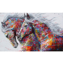 Full Square/Round Drill 5D DIY Diamond Painting Color horse Embroidery Cross Stitch  Home Decor Gift