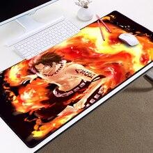 One Piece Portgas D Ace Fire large Mousepad XXL
