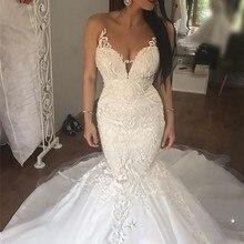GEYATING Wedding Dress 2019 Bride Dresses Court Train