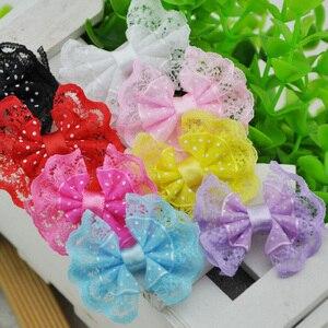 15Pcs Lace Organza Ribbon Bows Flowers Wedding Decoration Applique B88