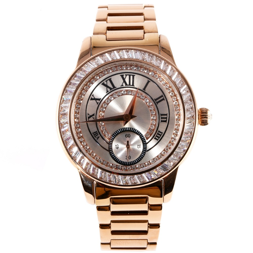 MATISSE Lady Austria Crystal Dial & Bezel Steel Strap Fashion Quartz Watch - Silver matisse lady austria full crystal dial