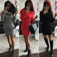 2018 Autumn And Winter Women S Hooded Sweater Casual Autumn And Winter Dress Three Color Long