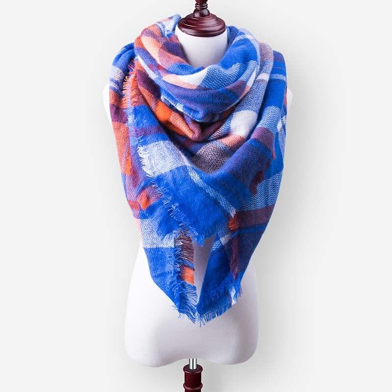 Бренд Evrfelan, шарфы, Прямая поставка, женский зимний шарф, высокое качество, плед, одеяло, шарф и шаль, большой размер, плотные шарфы, шали - Цвет: W37