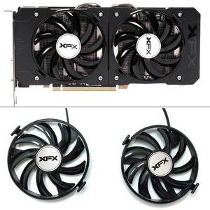 Image 1 - New FDC10U12S9 C 12v 0.45AMP PC Cooling For XFX R9 380X R7 370 Radeon R9 380X R7 370 Grahics Card As Replacement GPU Cooling fan