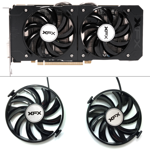 New FDC10U12S9 C 12v 0.45AMP PC Cooling For XFX R9 380X R7 370 Radeon R9 380X R7 370 Grahics Card As Replacement GPU Cooling fan