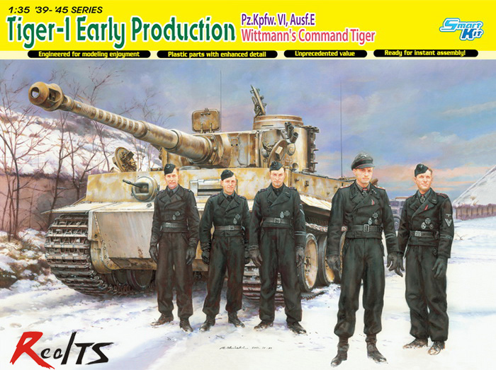 RealTS Dragon 6730 1/35 Tiger-1 Early Production Pz.Kpfw.VI,Ausf.E Wittmann's Command realts dragon 6746 1 35 flak 43 flakpanzer iv ostwind w zimmerit