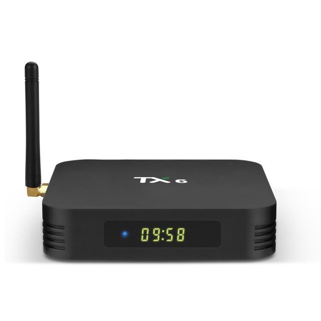 Android 9.0 TV Box TX6 4 GB di RAM 64 GB 5.8G Wifi Allwinner H6 Quad Core USD3.0 BT4.2 4 K Google Player Youtube Tanix Set Top Box TX6