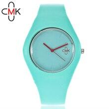 Лидер продаж ЦМК бренд Для женщин силиконовые часы Мода красочные кварцевые часы для Sudent подарочные часы Relogio Feminino