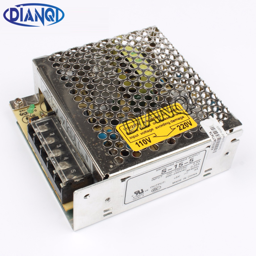 DIANQI power suply unit 15w 5v 3a ac to dc power supply ac dc converter  high quality S-15-5 dianqi power suply 24v 800w high quality input 110v 220v output 24v s 800 24 ac to dc power supply ac dc converter