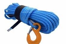 Mavi 12mm * 30m Kevlar vinç kablosu, sentetik vinç halatı, vinç halatı uzatma, kurtarma halatı