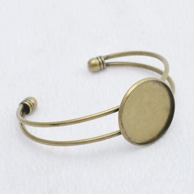 Купить 1 шт 20 мм 25 античная бронза цвет фото подвеска манжета ободок