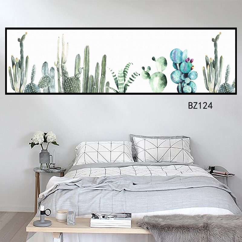Nordic flower painting posters and prints unique decorative wall art painting living room bedroom corridor in Painting Calligraphy from Home Garden