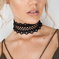 Danfosi Wide Black Lace Boho Choker Necklace For Women Fashion Neck Bib Torques Collar Necklaces collares mujer N4251