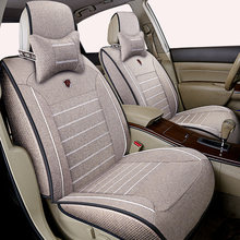 High quality linen Universal car seat cover for Audi A3 BMW Z4 VW Polo Golf Dodge Caliber Avenger Charger Prado car accessories(China)