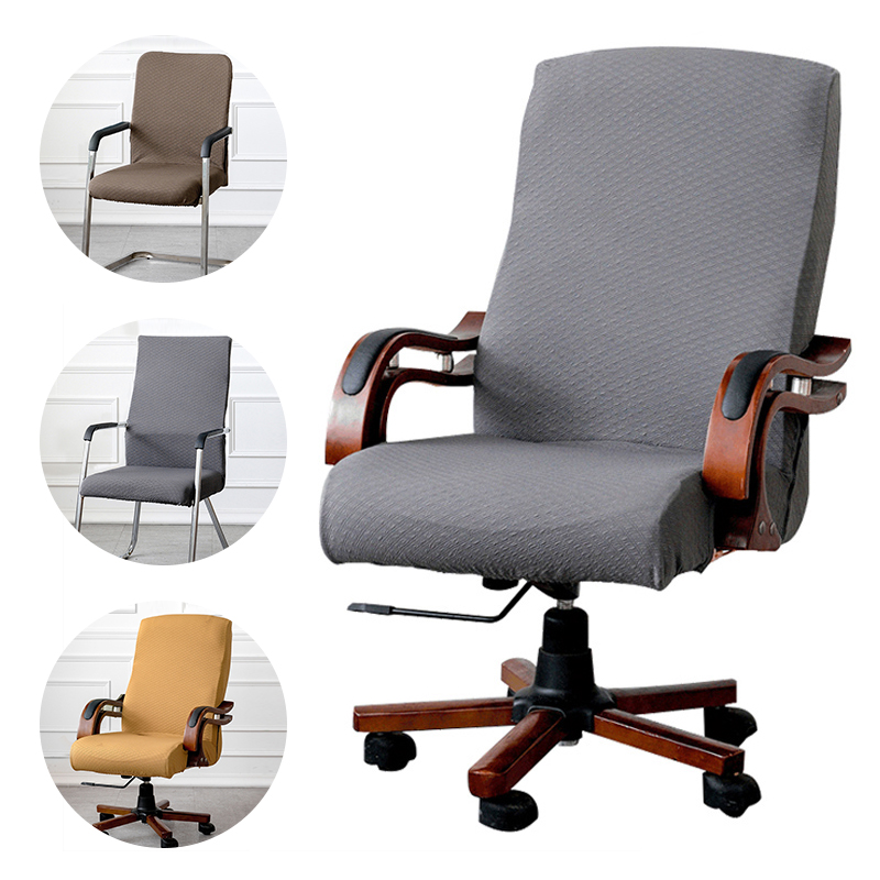 3 Sizes available Jacquard Office chair cover Computer ...