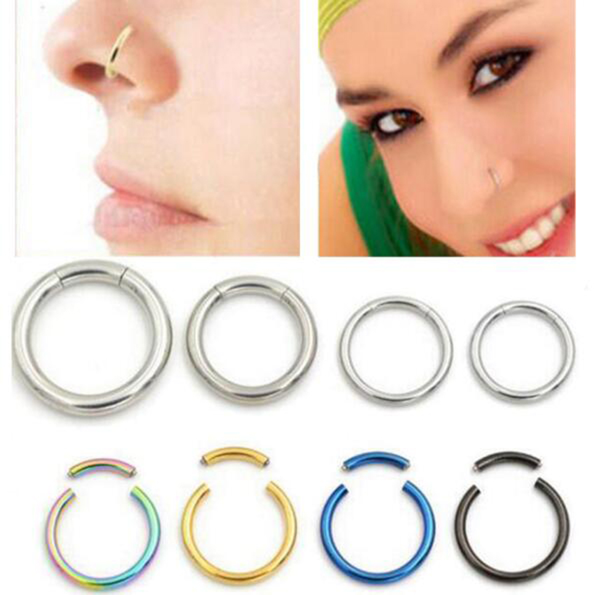 1piece Nose Cartilage Septum Ring Hoop Nose Rings Stainless Steel