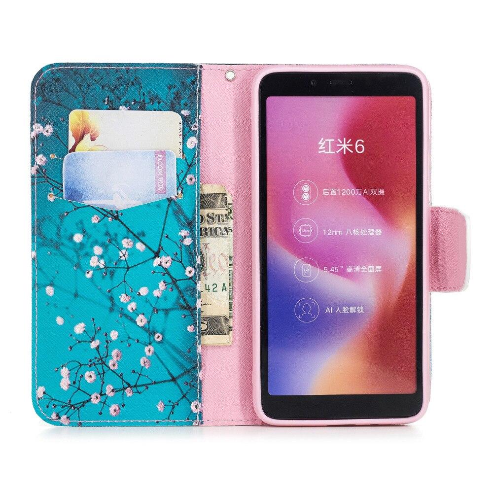 Case For Xiaomi Redmi 6 Case Luxury Flip Leather Wallet Phone Cases For Coque Xiaomi Redmi 6A 6 Pro Case Cover Card Slot