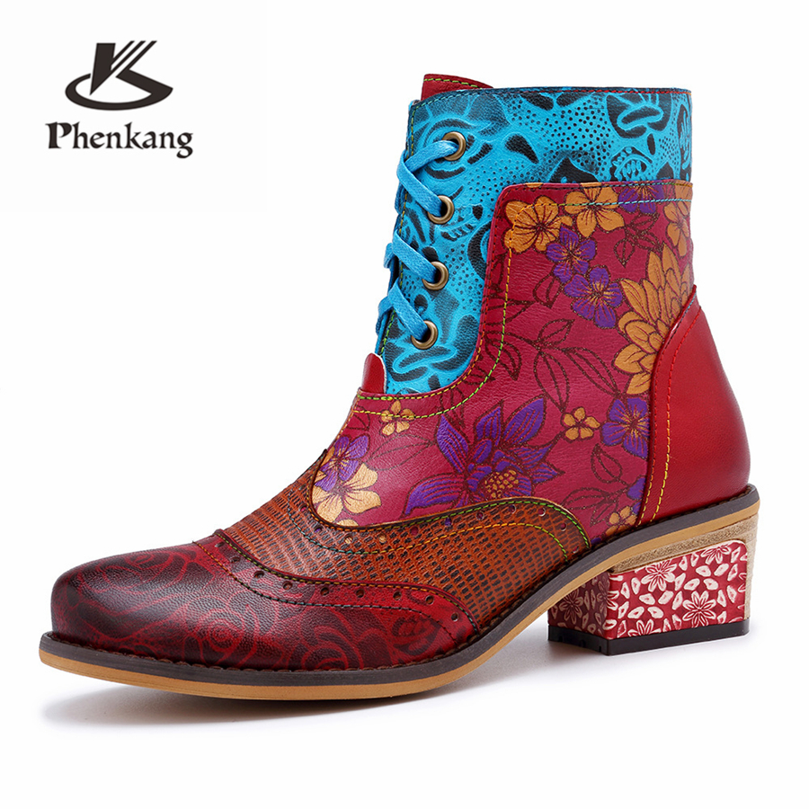 Women winter Boots Genuine cow Leather High heel Ankle Comfortable quality soft Shoes Brand Designer Handmade red 2019 springWomen winter Boots Genuine cow Leather High heel Ankle Comfortable quality soft Shoes Brand Designer Handmade red 2019 spring