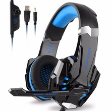 EACH G9000 3.5mm USB Gaming Headset Stereo Bass Luminous With Mic LED Light Gaming Headphone Gamer Headphone For computer  PS4