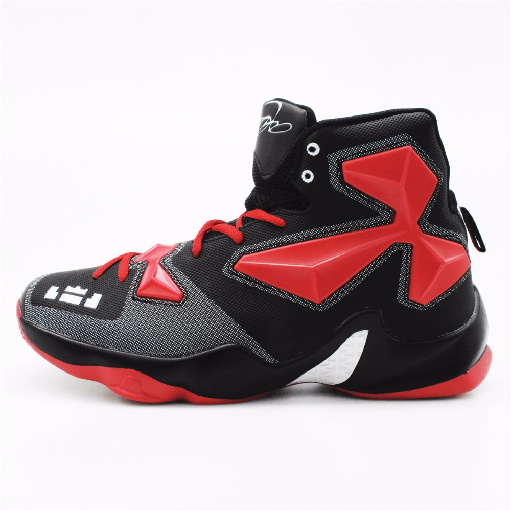 цены 2016 Men's High Quality Sneakers Red Black and White Basketball Boots Indoor Basketball Shoes #FBS2000R