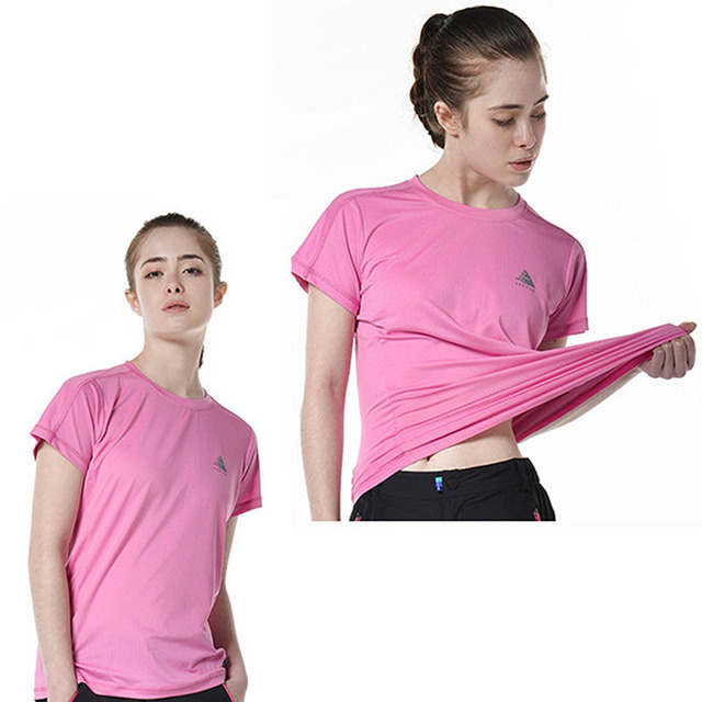 3ab9f642 Women Fitness Yoga Shirts Clothing Breathable Men Sports T-shirts Quick Dry  Gym Sportswear Outdoor Reflective Running T-shirts