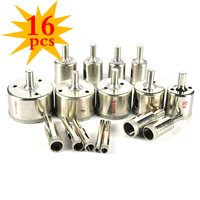 16pc Set 6mm 50mm Diamond Hole Saw Drill Bit Herramientas For Marble Ceramic Glass Tile