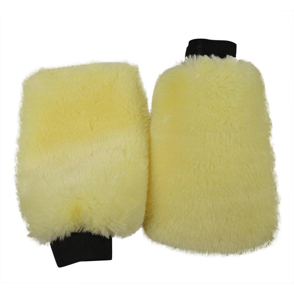Microfiber Plush Mitt Car Wash Mitten Washing Glove Cleaning Brush Tool HI