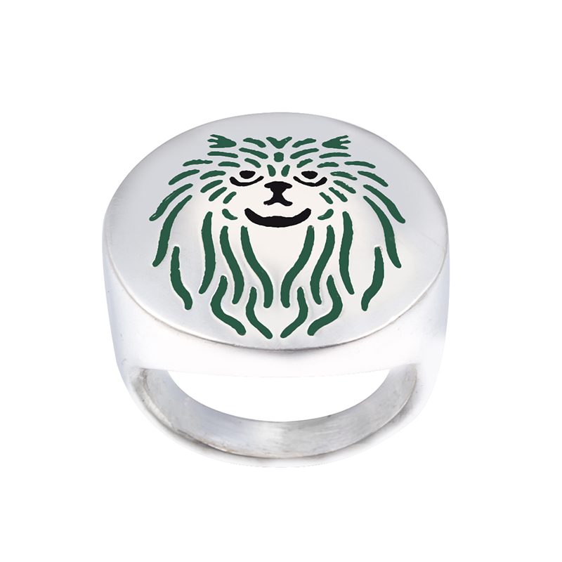 Wholesale Persian Cat  Ring with color selection enamel lovers and owners-unisex free ship -10Pcs/Lot