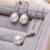 FENASY 925 esterlina jóias de prata real natural pérola de água doce conjunto de jóias de pérolas para as mulheres jóias 2016 nova