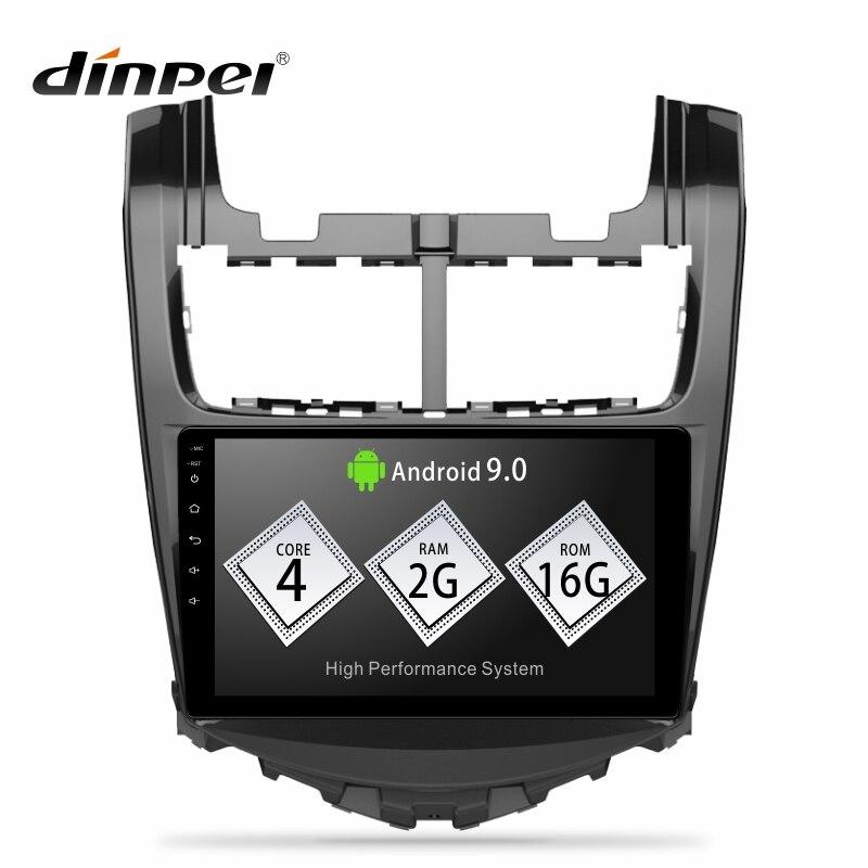 Lecteur multimédia autoradio Dinpei Android 9.0 pour Chevrolet Aveo 2 2014 2015 Navigation GPS MP5 WIFI vidéo stéréo