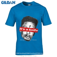 GILDAN style mens t shirts igh Quality T Shirt Short 21 Savage It'S A Knife White Crew Neck Summer Tee Shirt For Men