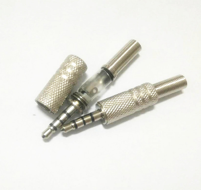 headphone 3 5mm plug wiring diagram 10pcs 1 8  3 5mm stereo 4 pole male repair headphone jack plug  10pcs 1 8  3 5mm stereo 4 pole male