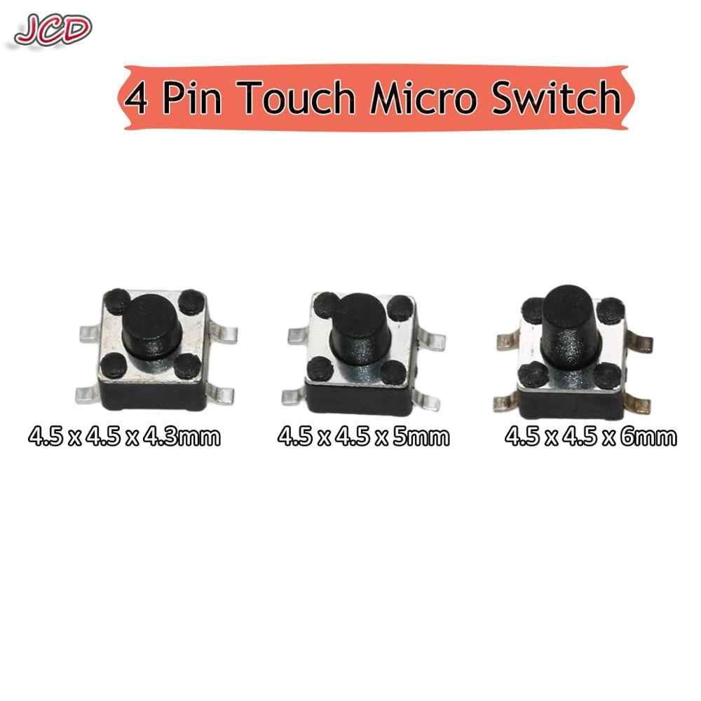 Jcd 4.5X4.5 Mm SMD Switch 4 Pin Touch Micro Switch Bijaksana Push Button Switch 4.5X4.5X4.3 H 4.5X4.5X5 H 4.5X4.5X6 H Mini Tombol