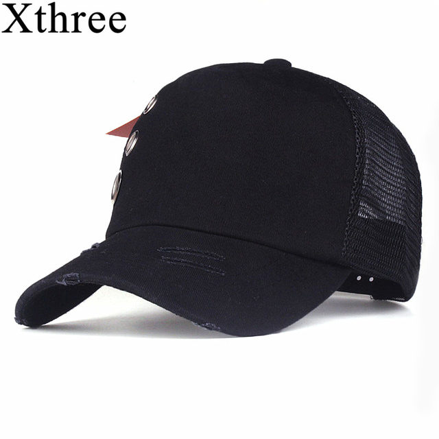 Xthree Ring Damage design summer baseball cap mush fitted cap girl snapback  hat for men women casual gorras 5 panels 608cdf2ecffe