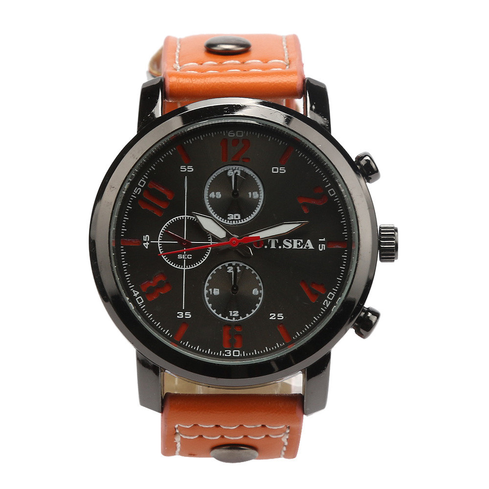 Sport Watch Fitness Watch Fashion Hot Men's Sports Quartz Watches Mens Watches Luxury Leather Wristwatches relojes para hombre