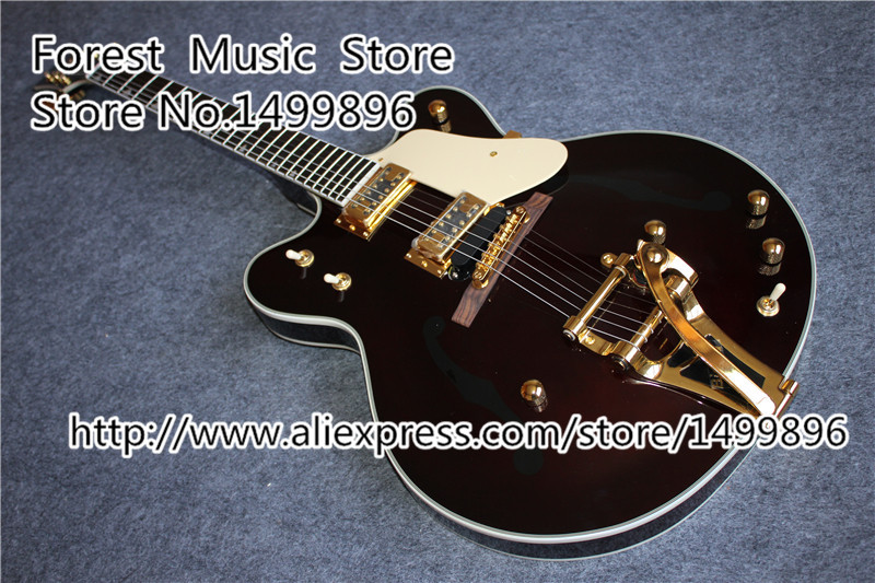 hot selling peter frampton signature lp custom electric guitars in ebony frampton custom comes alive from china factory Hot Selling G6122-1962 Guitars Atkins Country Gentleman Electric Guitars With Bigsby From China Factory
