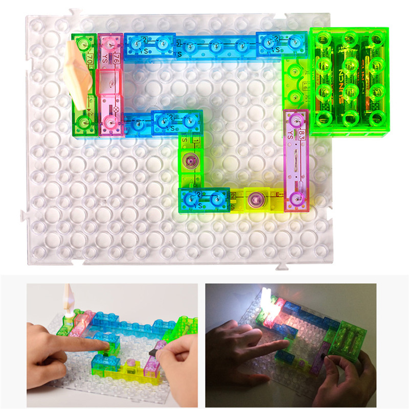 115/120 Kinds of Games Playing Light Emitting FM Radio Energy Building Block Toys Children Interesting Electronic Sound Toys