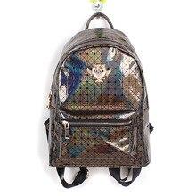 Новое прибытие Многоцветный Корейской моды голограмма рюкзак плед мешок отдыха плеча рюкзаки сова стиль кожи лазерное Голографическая
