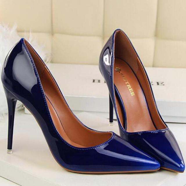 {D & H} Sapatos da Marca das Mulheres Sexy Cor Gradiente Boate sapatos de Salto Alto Mulheres Bombas Stiletto sapatos de Salto Fino pontas Do Dedo Do Pé Alto-Sapatos de salto alto