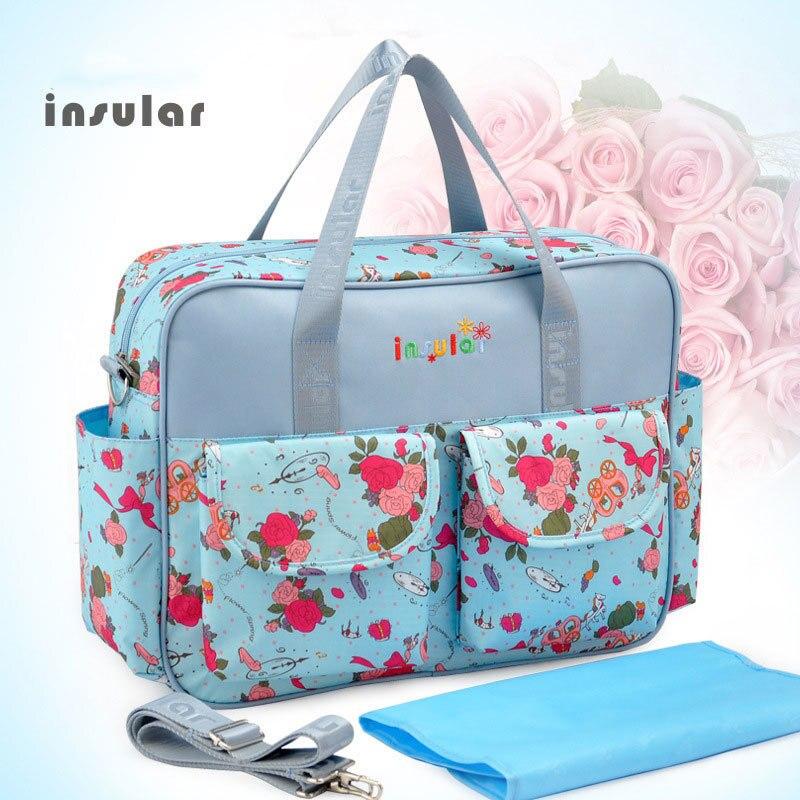 Для беременных Для женщин многоцелевой полиэстер сумка моды Водонепроницаемый матери к ребенку сумка Портативный Вышивка Крестом Пакет