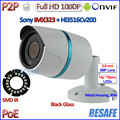 HOT 2MP POE mini ip camera 1080P ONVIF 2.4 cctv outdoor camera IMX323 Sensor IP66 Security 24LED, 3.6mm Lens, bracket, IR-CUT